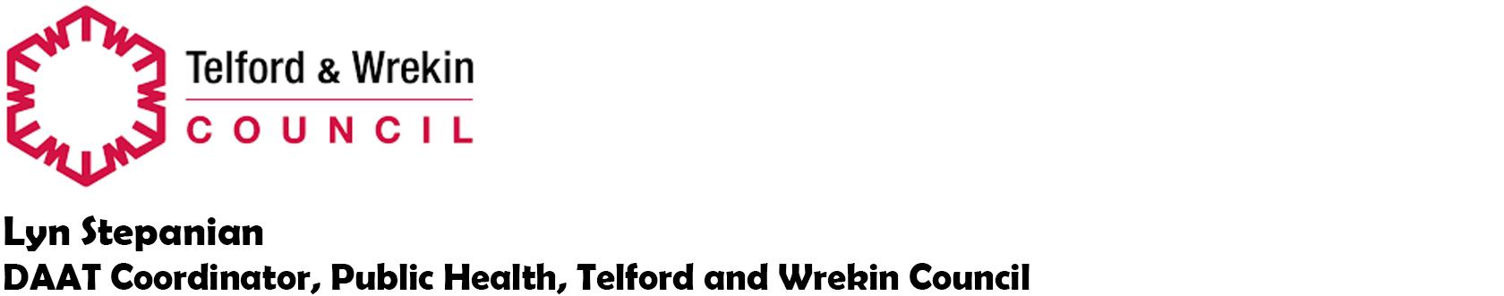Lyn Stepanian - DAAT Coordinator, Public Health, Telford and Wreking Council